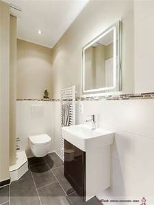 Wandfarbe Für Bad : klare linien im g ste bad mit dusche wc und ~ Michelbontemps.com Haus und Dekorationen