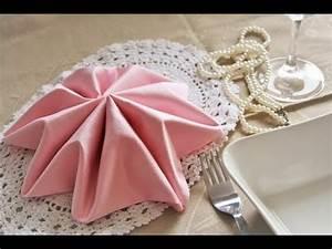 Pliage De Serviette En Tissu : pliage de serviette tissu id es d coration id es ~ Nature-et-papiers.com Idées de Décoration