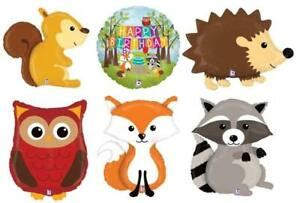 WOODLAND CRITTERS RANGE OF 5 LARGE ANIMALS FOIL BALLOONS