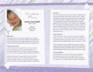custom funeral programs child funeral program
