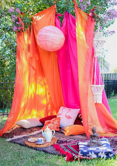 diy boho tent for fall outdoor entertaining party time