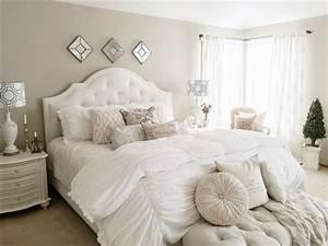 Master, Bedroom, Decorating, Ideas, -, Soft, White, Bedding
