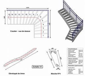 Schema construction escalier