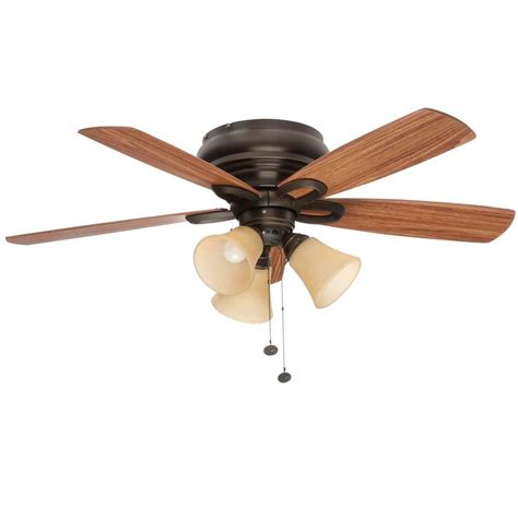 home depot ceiling fans clarkston 44 in oiled rubbed bronze ceiling fan with