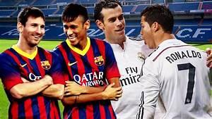 Messi & Neymar VS Ronaldo & Bale - YouTube