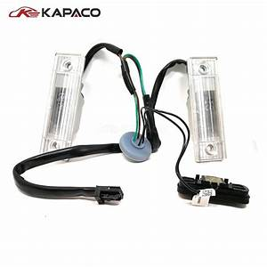 Rear Back Trunk Switch Button With License Plate Light For