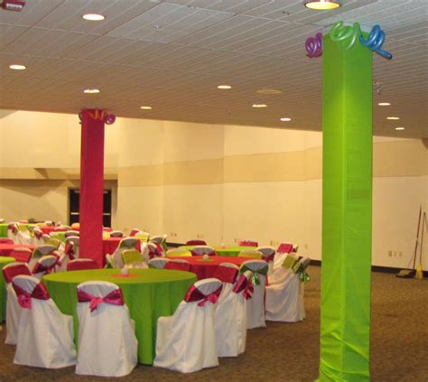 how to decorate a column party people event decorating company neon prom