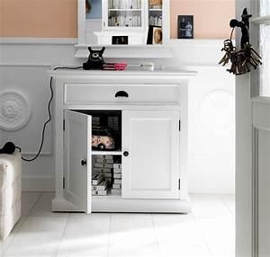 Commode Bois Blanc : buffet commode bois blanc collection leirfjord 2 portes 1 tiroir buffet console commode ~ Teatrodelosmanantiales.com Idées de Décoration