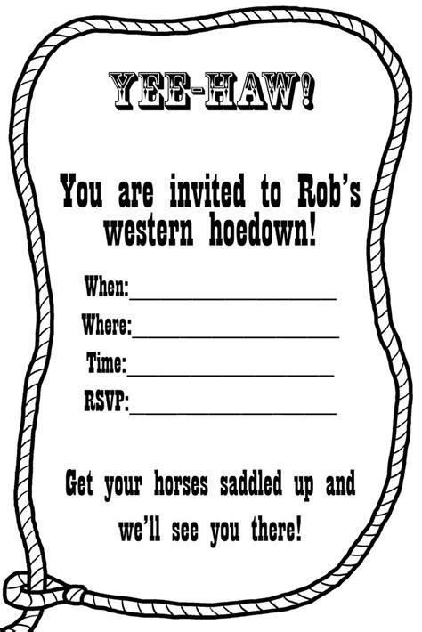 western invitation templates