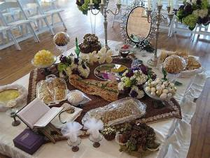 Traditional persian wedding table arrangement wedding for Persian wedding ceremony table