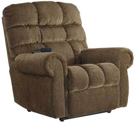 signature design ernestine power lift recliner with