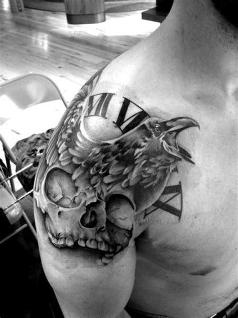 Skull Raven tattoo by Westfall Tattoo | Best Tattoo Ideas