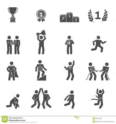 cr馥r un icone de bureau noir d 39 icônes de concurrence illustration de vecteur image 53414450