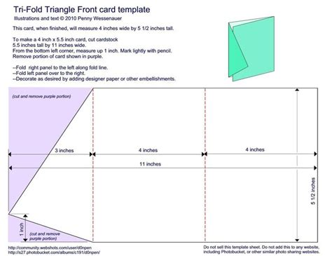 triangle tent card template tri fold triangle front card template 4 quot x 5 1 2