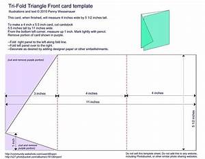 tri fold triangle front card template 4quot x 5 1 2 With tri fold tent card template