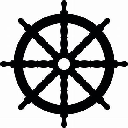 Steering Wheel Ship Boat Icon Vector Clip