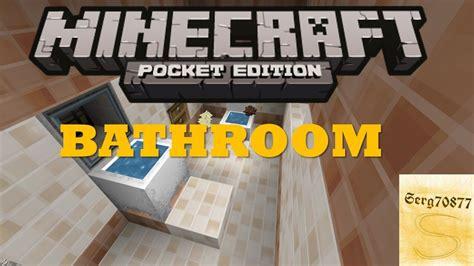 Minecraft Pocket Edition Bathroom Ideas by Minecraft Pocket Edition Build Tutorials 3 Bathroom