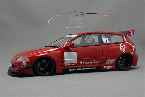 honda civic  pandem red car  diecast collections