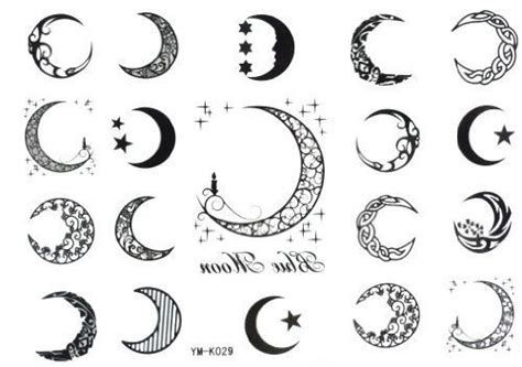 ideas  crescent moon tattoos  pinterest moon tattoo designs moon tattoos  moon