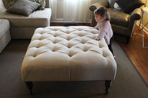 large square upholstered ottoman large square tufted ottoman coffee table with white