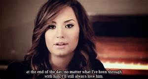 Demi Lovato Quote Gif | www.imgkid.com - The Image Kid Has It!