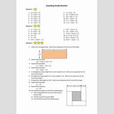 Gcse Maths Expanding Brackets Worksheet By Annamarchbank  Teaching Resources Tes