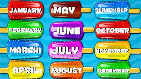 Months Of The Year Songs For Kids And children Preschool ...
