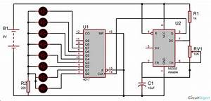 Heart Shaped Serial Led Flasher Circuit Diagram Using Ic