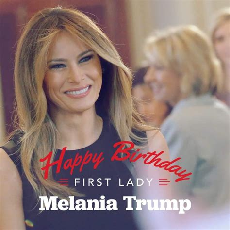 Melania Trump в Instagram: «Happy Birthday to our beautiful First Lady Melania Trump ️ thank you for all your energy and time that you put into our country on...»
