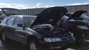 Imported 1996 Honda Accord Wagon At The Junk Yard
