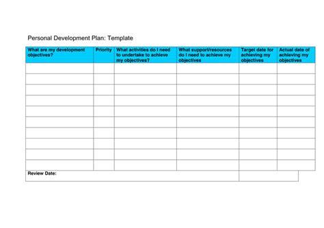 personal development plan pdp template  word
