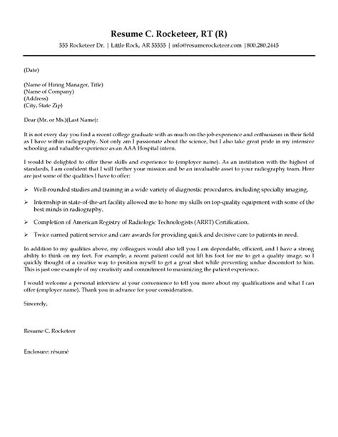 Radiology Resume Cover Letter by Radiologic Technologist Cover Letter
