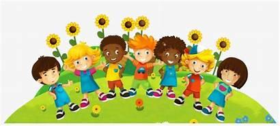 Cartoon Multicultural Children Clipart Friendly Play Mrs