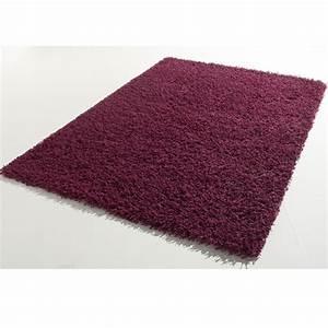 tapis a longues meches 160 x 230 cm shaggy prune frais With tapis couleur prune