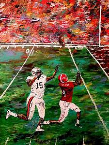 The Longest Yard - Alabama Vs Auburn Football Painting by