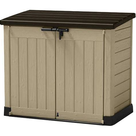 keter storage shed menards keter 174 store it out max horizontal storage unit at menards 174