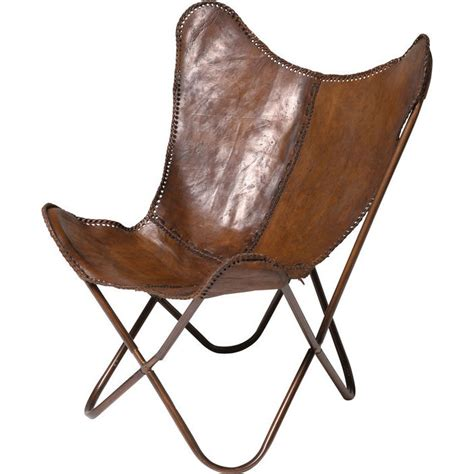 chaise papillon armchair butterfly brown kare design
