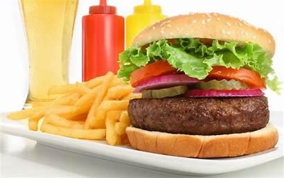 Fries French Burger Burgers Hamburger Cartoon Wallpapers