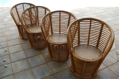 vintage bamboo rattan chairs on sale palm regency style
