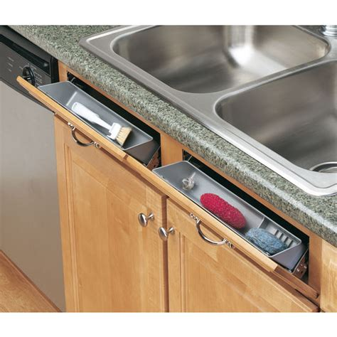 sink front tip out tray cabinetstorage com 6572 series sink front tip out trays