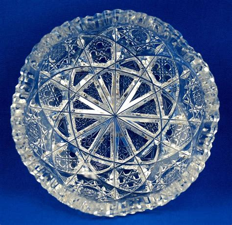 American Brilliant Period Cut Glass Dish - J. Hoare & Co.