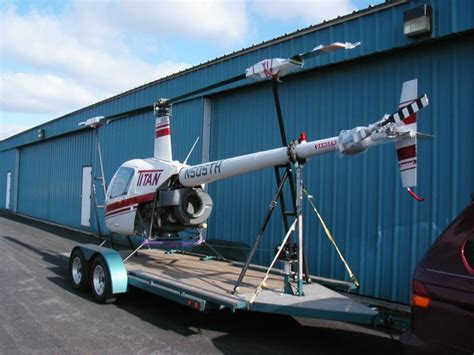 Robinson Helicopter Recovery and Trailering