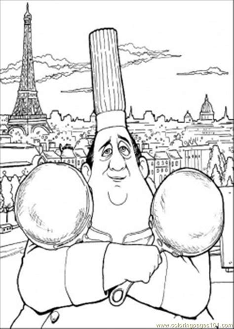 auguste gusteau coloring page  ratatouille coloring