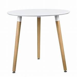 Küchentisch Rund Weiß : esstisch rund wei h 75cmx 80cm holz tisch retro k chentisch retro stuhl ~ Markanthonyermac.com Haus und Dekorationen