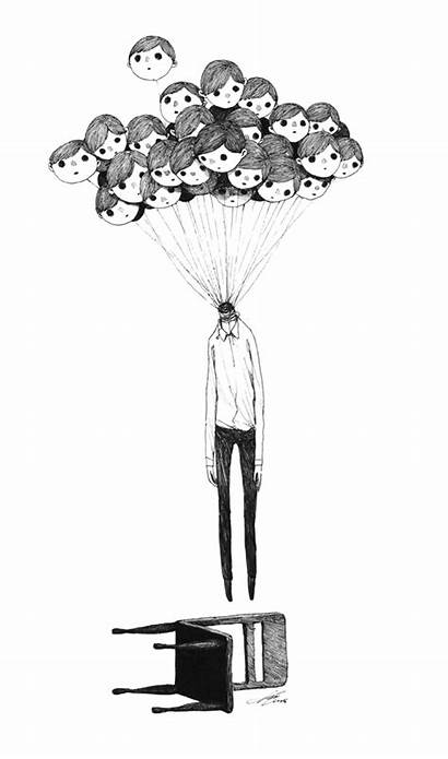 Drawings Weird Creepy Thoughts Many Reality Behance