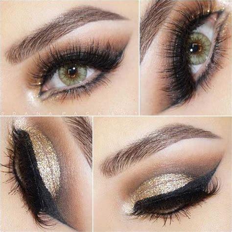 pretty green eye makeup     pop