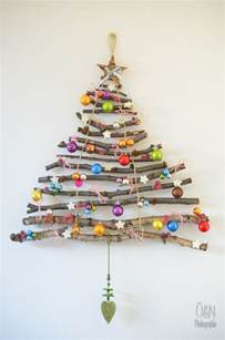 60 of the best christmas decorating ideas stick christmas tree christmas tree and handmade