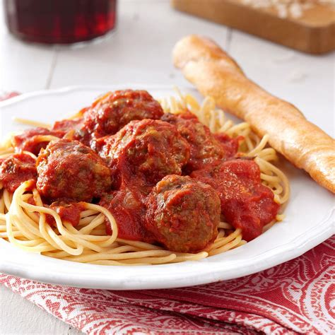 top recipes best spaghetti and meatballs recipe taste of home