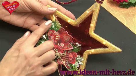 Ideen Mit Herz  Sternrahmen  Weihnachtsdeko Anhänger
