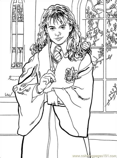 hermione granger harry potter coloring page colouring